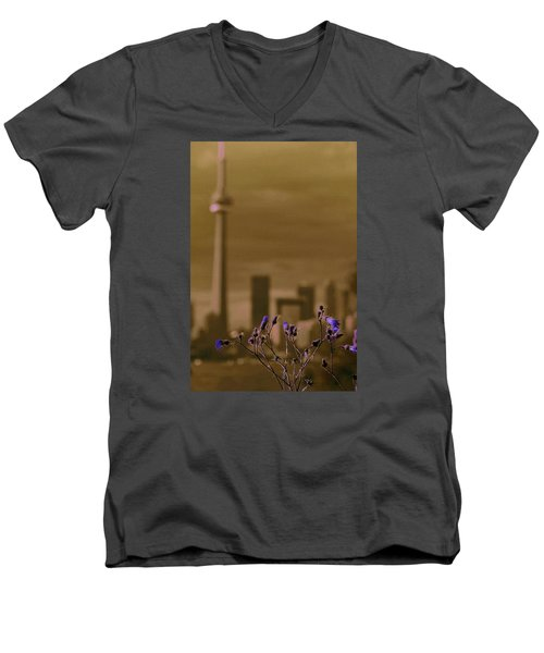 Men's V-Neck T-Shirt featuring the photograph Live Beautifully by The Art Of Marilyn Ridoutt-Greene