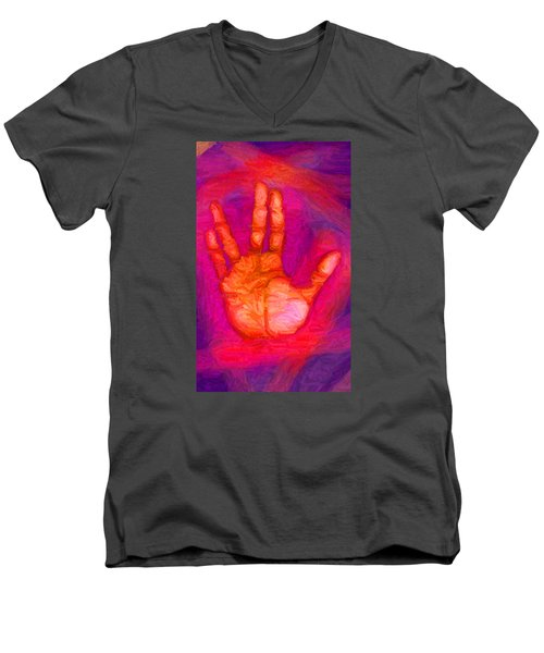 Live Long And Prosper Men's V-Neck T-Shirt