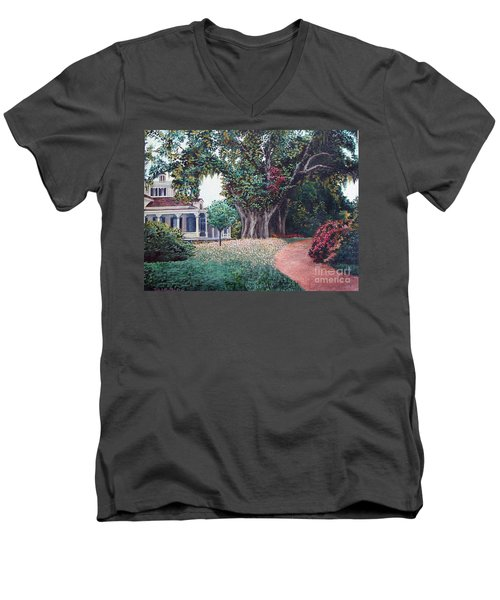 Live Oak Gardens Jefferson Island La Men's V-Neck T-Shirt