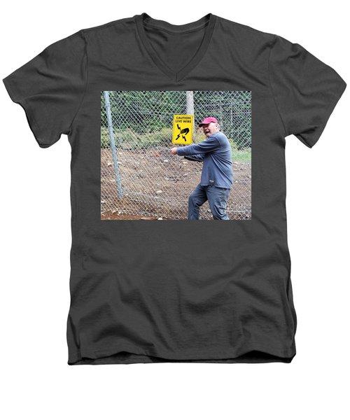 Live Wire Men's V-Neck T-Shirt