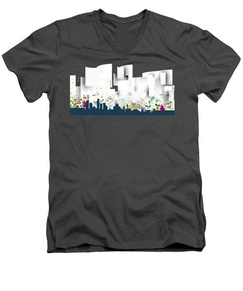 Liverpool Skyline .1 Men's V-Neck T-Shirt