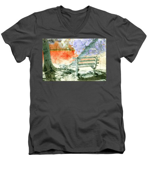 Living Color Men's V-Neck T-Shirt