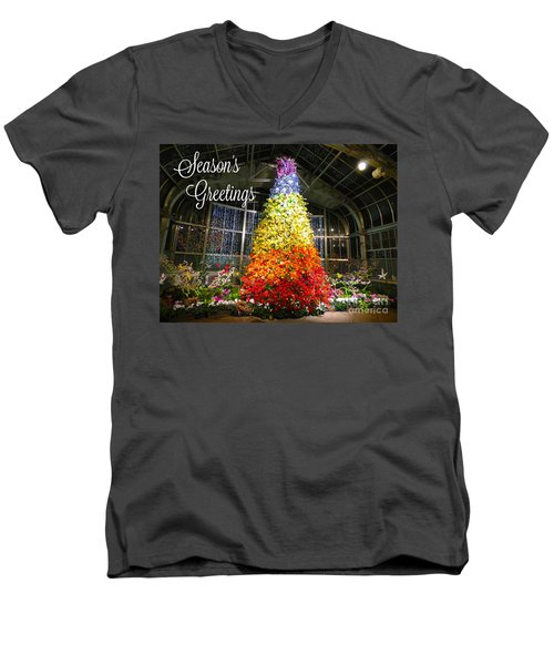 Living Color Season's Greetings Men's V-Neck T-Shirt