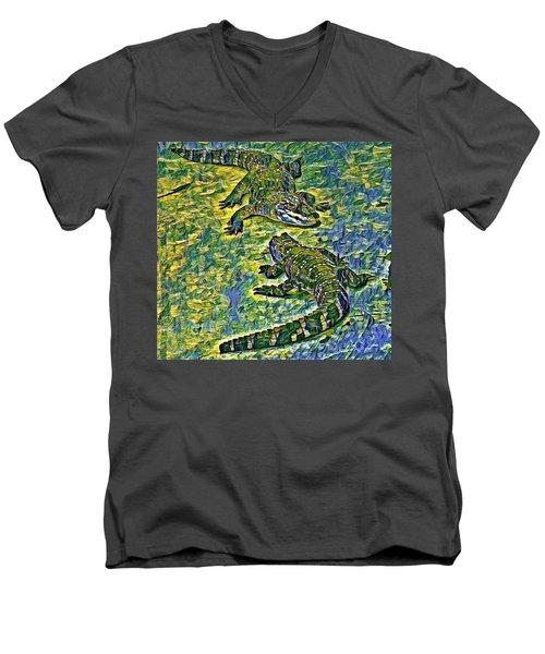 Living Fossils  Men's V-Neck T-Shirt