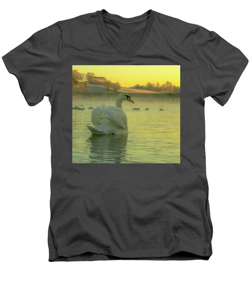 Living In Hope Men's V-Neck T-Shirt by Rose-Marie Karlsen