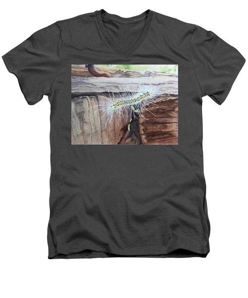 Living In The Moment - Dna Drama Men's V-Neck T-Shirt