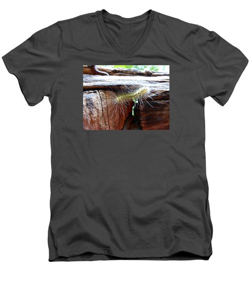 Men's V-Neck T-Shirt featuring the photograph Living In The Moment by Joel Deutsch