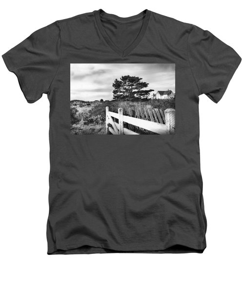 Living The Good Life Black And White Version Men's V-Neck T-Shirt by Kandy Hurley