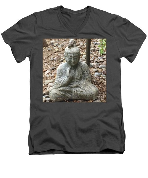 Lizard Zen Men's V-Neck T-Shirt by Kim Nelson