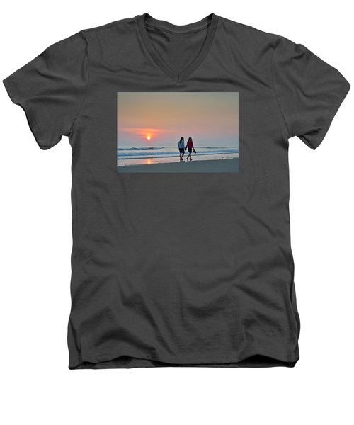 Llangennith Men's V-Neck T-Shirt