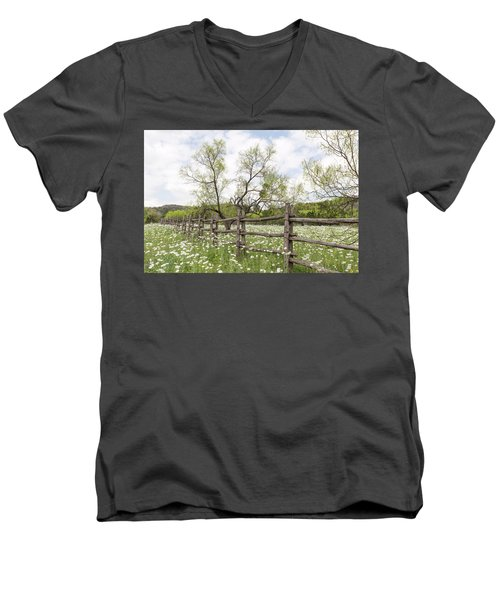 Llano County Wildflowers Men's V-Neck T-Shirt