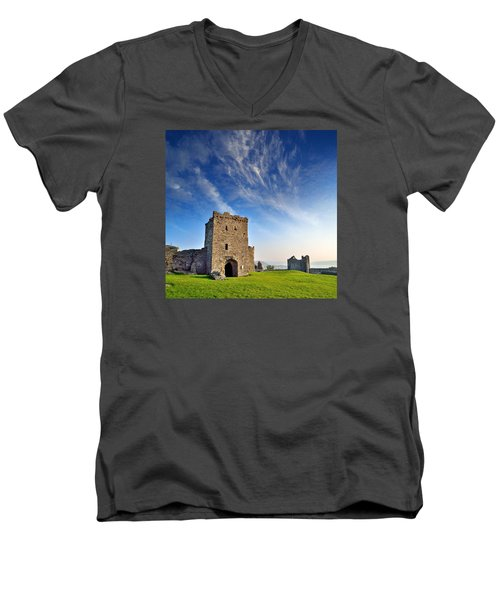 Llansteffan Castle 1 Men's V-Neck T-Shirt