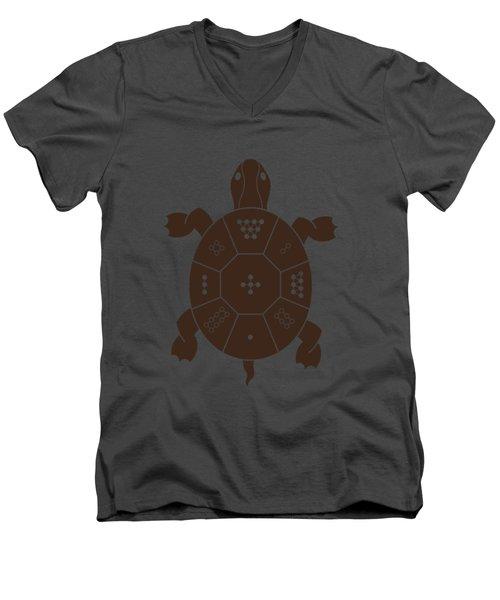 Lo Shu Turtle Men's V-Neck T-Shirt by Thoth Adan