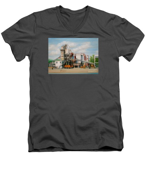 Load  The Big Orange Truck Men's V-Neck T-Shirt by Oz Freedgood
