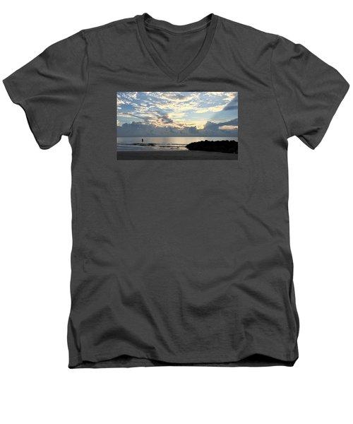 Lone Fishing Men's V-Neck T-Shirt