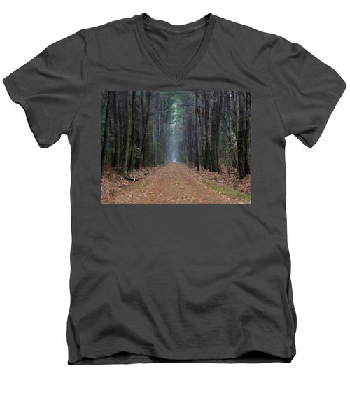 Men's V-Neck T-Shirt featuring the photograph Loblolly Lane by Robert Geary