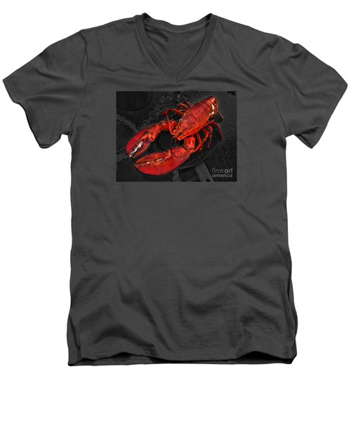 Men's V-Neck T-Shirt featuring the photograph Lobstah by William Fields