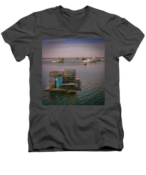 Lobstar Pot Float Men's V-Neck T-Shirt