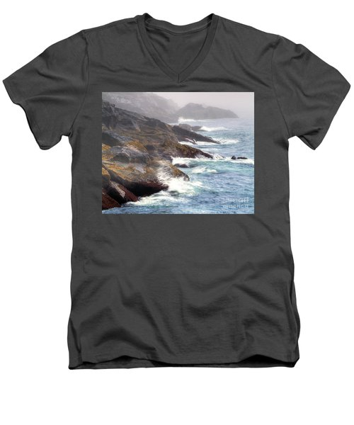 Lobster Cove Men's V-Neck T-Shirt by Tom Cameron