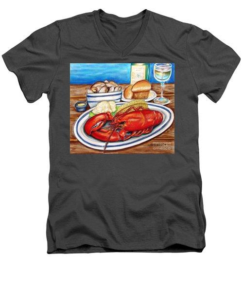 Lobster Dinner Men's V-Neck T-Shirt