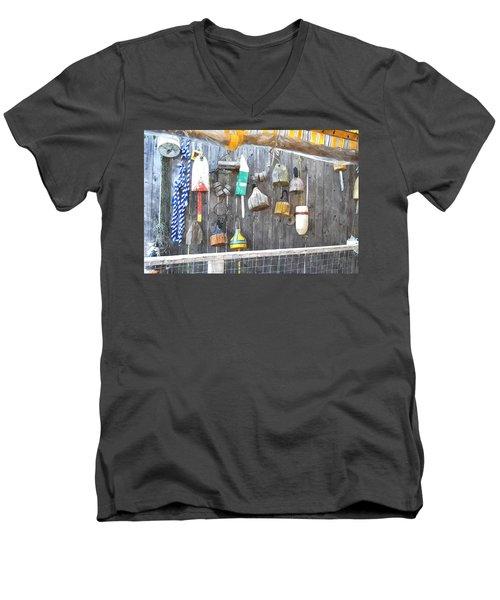 Lobster Markers Lmwc Men's V-Neck T-Shirt by Jim Brage