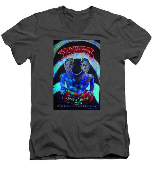 Lobster Men Men's V-Neck T-Shirt