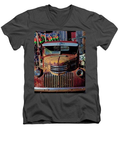 Lobster Pots And Chevys Men's V-Neck T-Shirt