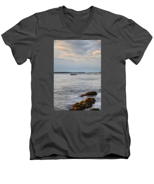 Lobsterboat Freedom II - Bass Harbor, Maine Men's V-Neck T-Shirt