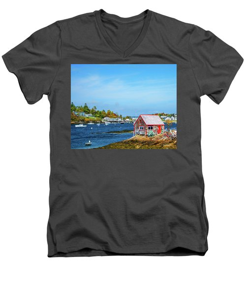 Lobstermen's Shack Men's V-Neck T-Shirt