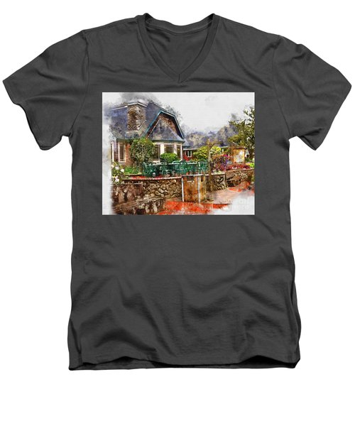 Local Grill And Scoop Men's V-Neck T-Shirt