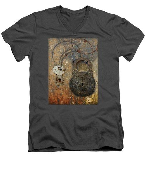 Lock And Key Men's V-Neck T-Shirt