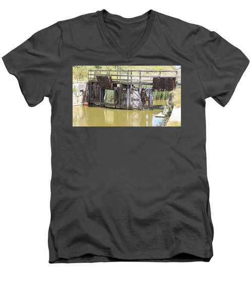 Lock Men's V-Neck T-Shirt by Keith Sutton