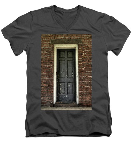Men's V-Neck T-Shirt featuring the photograph Locked Forever by Zawhaus Photography