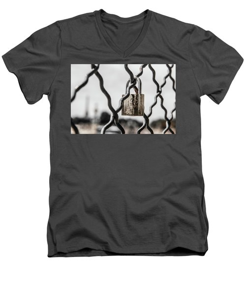 Locked In Paris Men's V-Neck T-Shirt