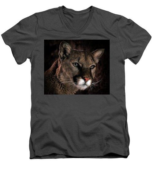 Locked Onto Prey Men's V-Neck T-Shirt