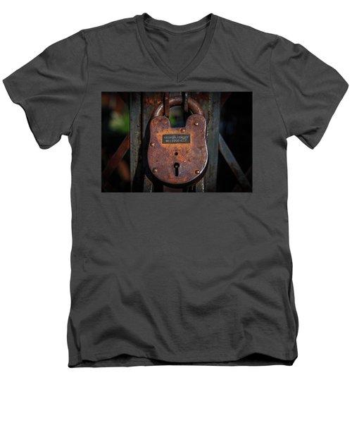 Locked Up Tight Men's V-Neck T-Shirt