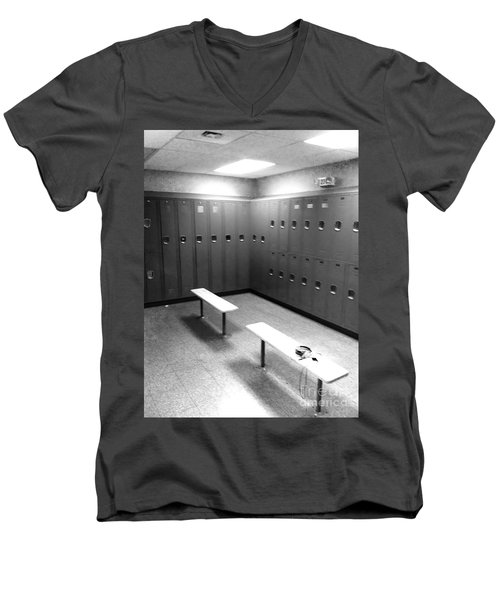 Locker Room Men's V-Neck T-Shirt by WaLdEmAr BoRrErO