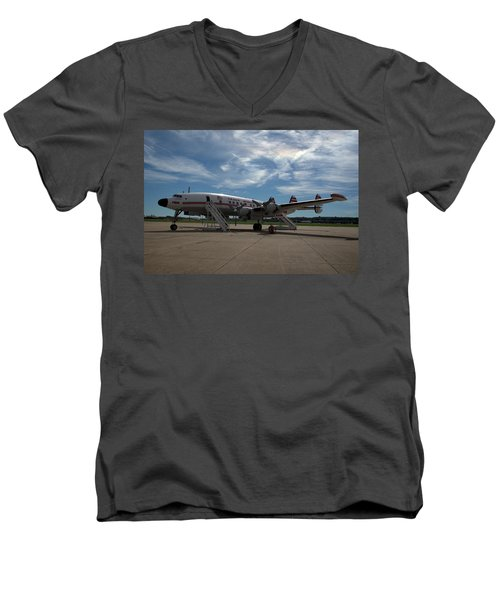 Lockheed Constellation Super G Men's V-Neck T-Shirt