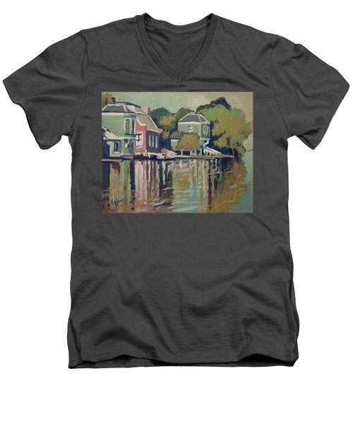 Lofts Along The River Zaan In Zaandam Men's V-Neck T-Shirt by Nop Briex