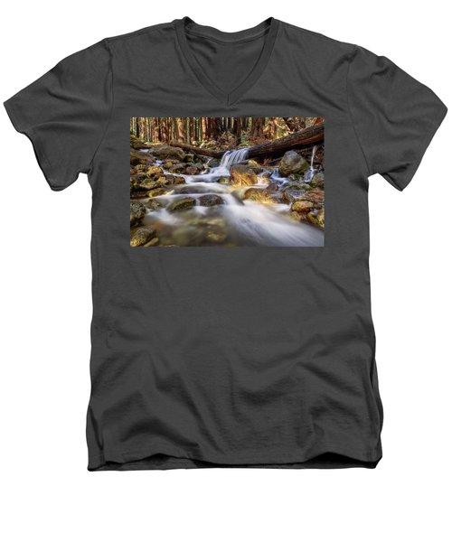 Log Falls On Limekiln Creek Men's V-Neck T-Shirt