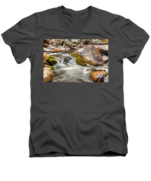 Logan Creek, Montana 2 Men's V-Neck T-Shirt