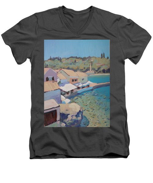 Loggos Pier View Men's V-Neck T-Shirt by Nop Briex