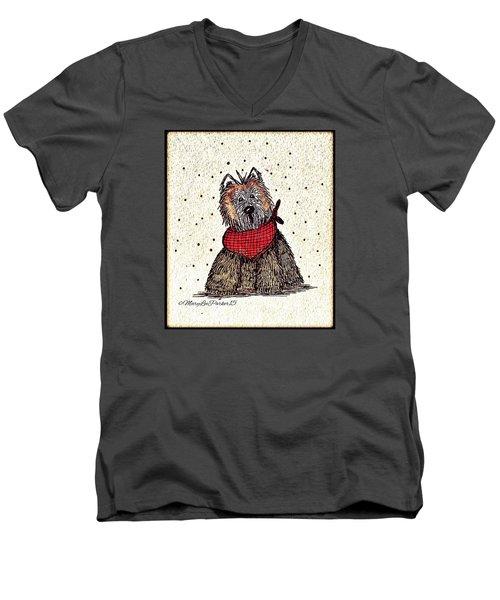 Lola The Dog Men's V-Neck T-Shirt by MaryLee Parker