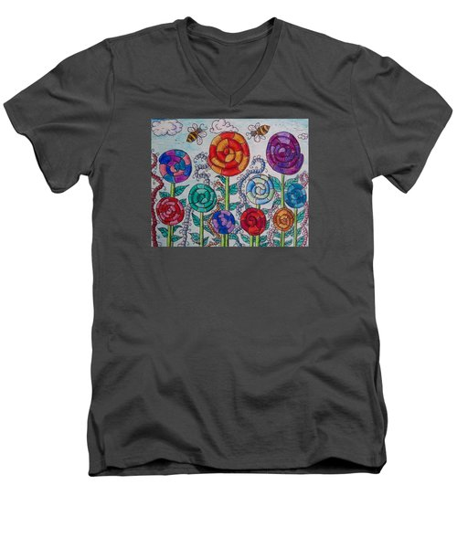Lollipop Garden Men's V-Neck T-Shirt