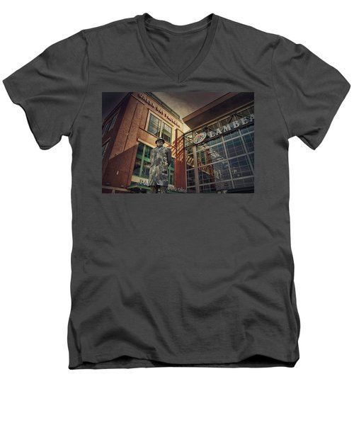 Men's V-Neck T-Shirt featuring the photograph Lombardi Time by Joel Witmeyer