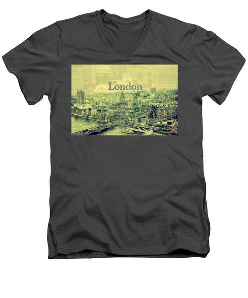 London Calling You Back Men's V-Neck T-Shirt