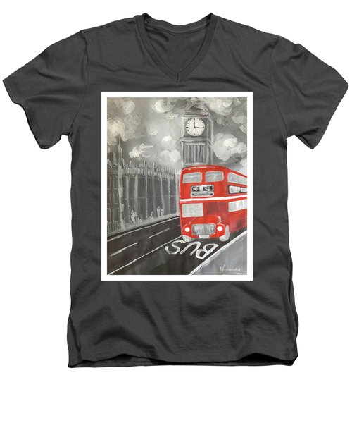 London City Abstract Men's V-Neck T-Shirt