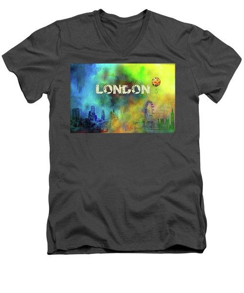 London - Skyline Men's V-Neck T-Shirt