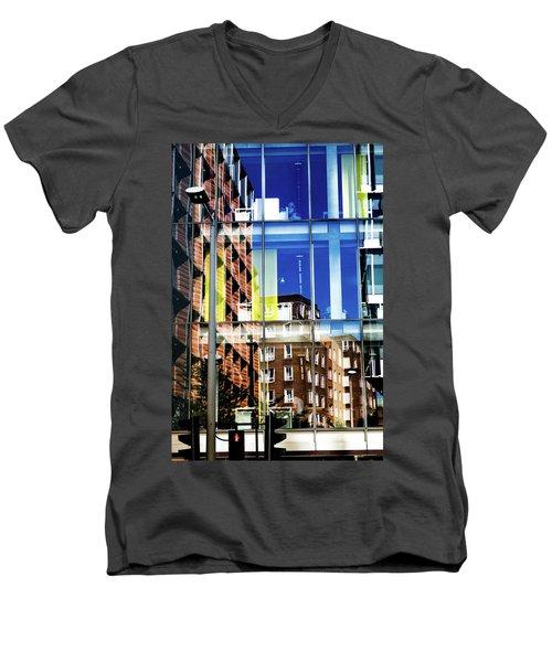 London Southwark Architecture 2 Men's V-Neck T-Shirt by Judi Saunders