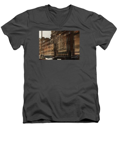 London,window Reflections Men's V-Neck T-Shirt
